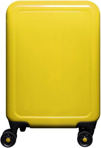 meinTrolley Hartschalen-Trolley »Gelb«, 4 Rollen