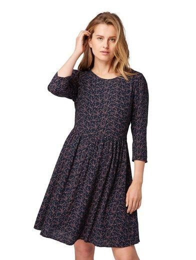TOM TAILOR A-Linien-Kleid mit femininen Puffärmeln