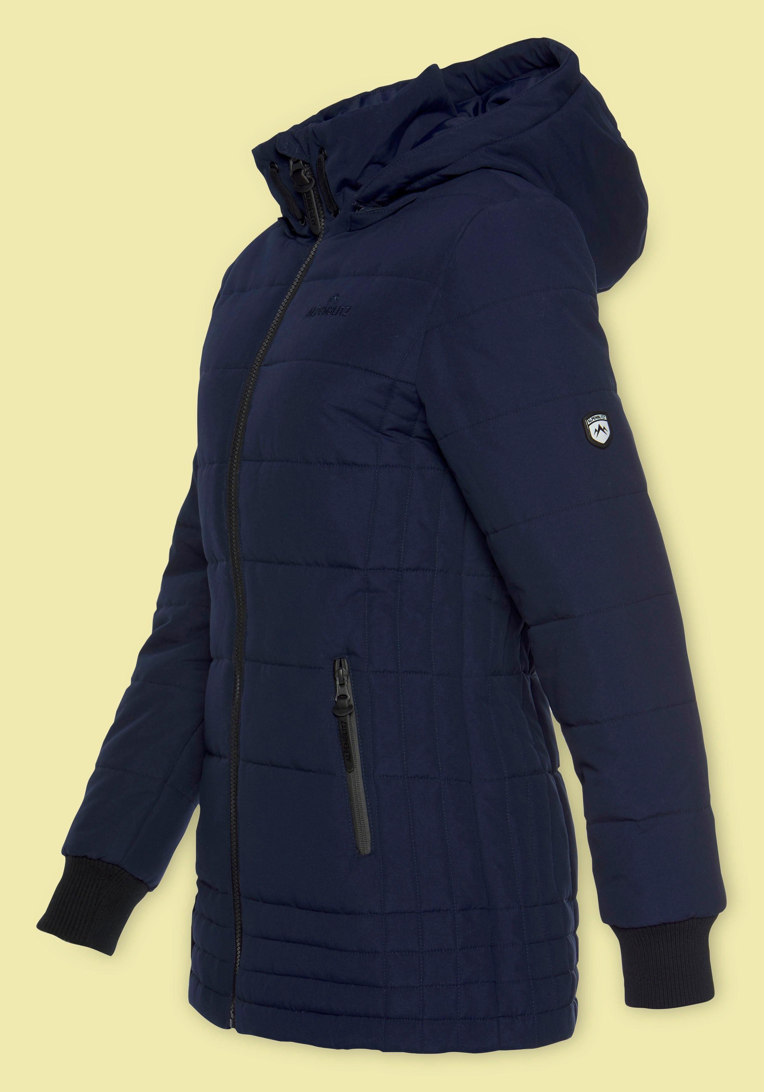 ALPENBLITZ Steppjacke »Flockenwirbel« moderne Winterjacke mit abnehmbarer Kapuze