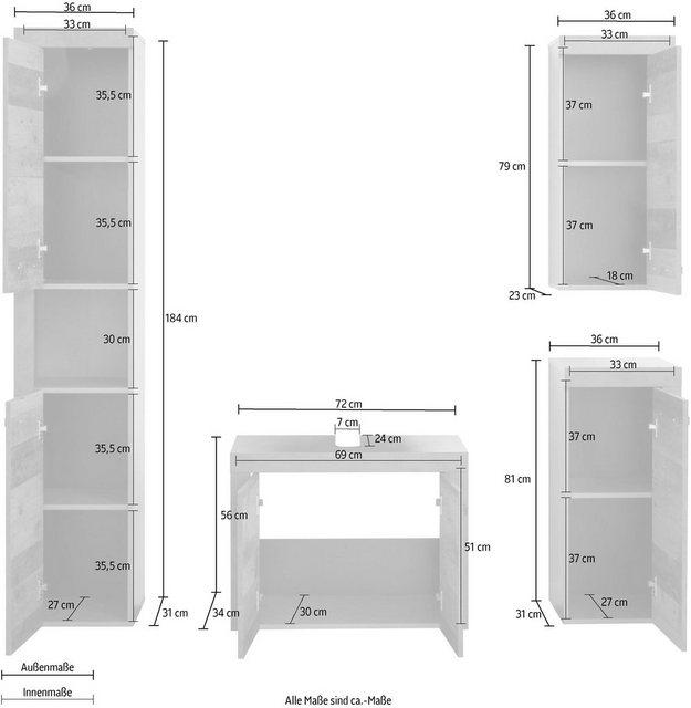 Badezimmer Sets - trendteam Badmöbel Set  - Onlineshop OTTO