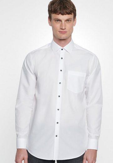 seidensticker Businesshemd »Modern« Modern Langarm Kentkragen Uni