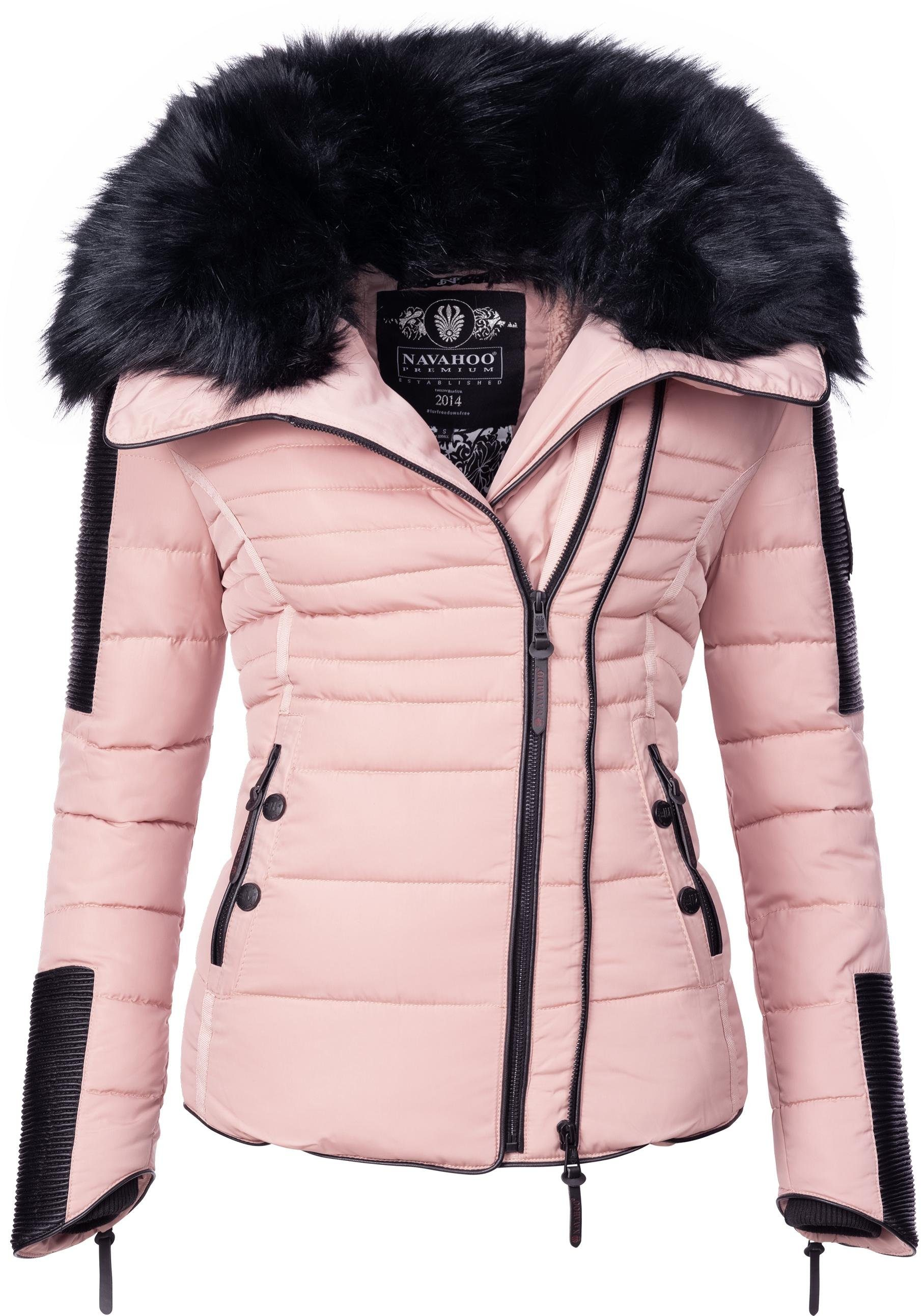 Navahoo Steppjacke »Yuki2« stylische Winterjacke m. edlem Kunstpelz Kragen online kaufen | OTTO