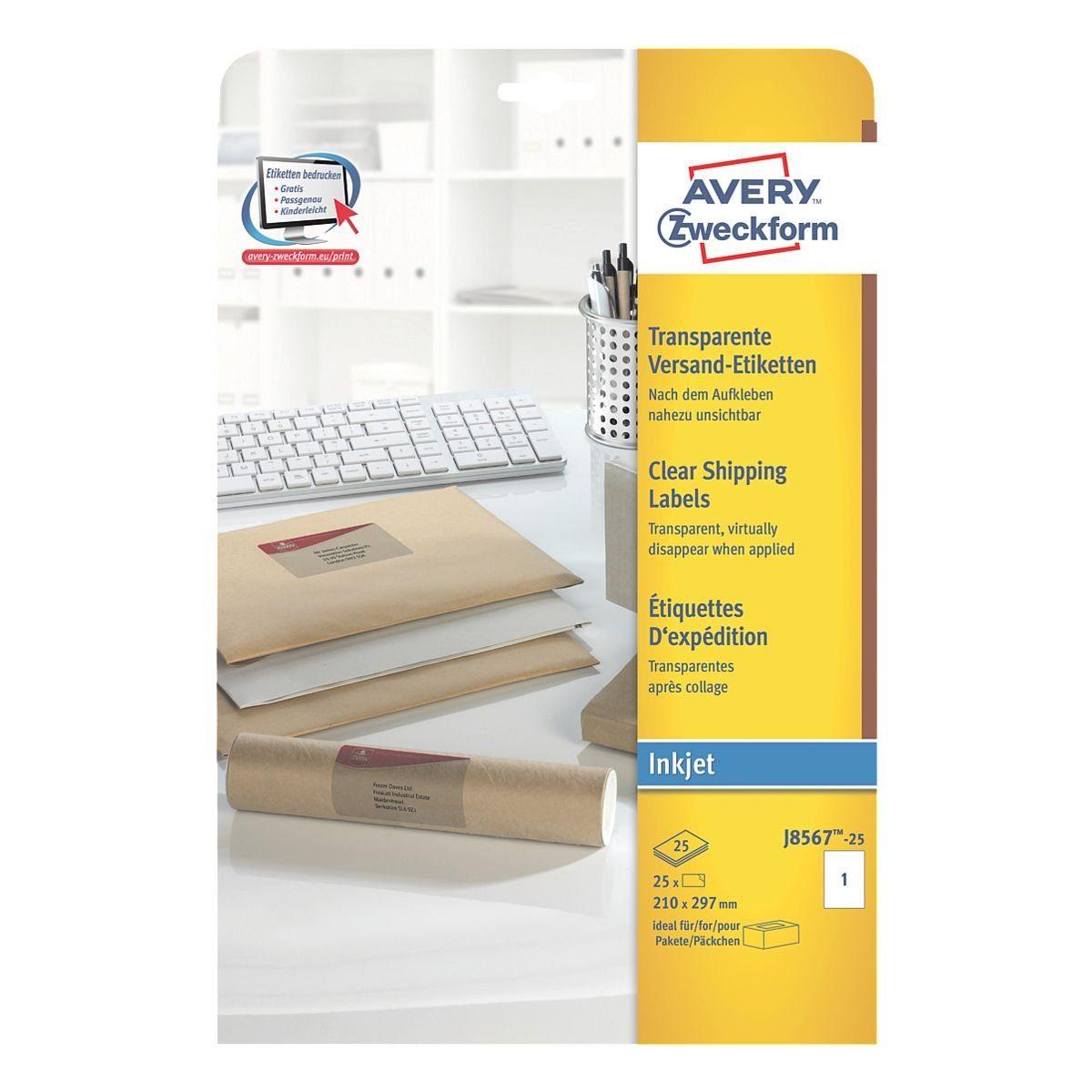 Avery Zweckform 25er-Pack Folien-Etiketten »J8567-25«