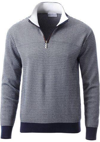 Пуловер с классические Troyerkragen