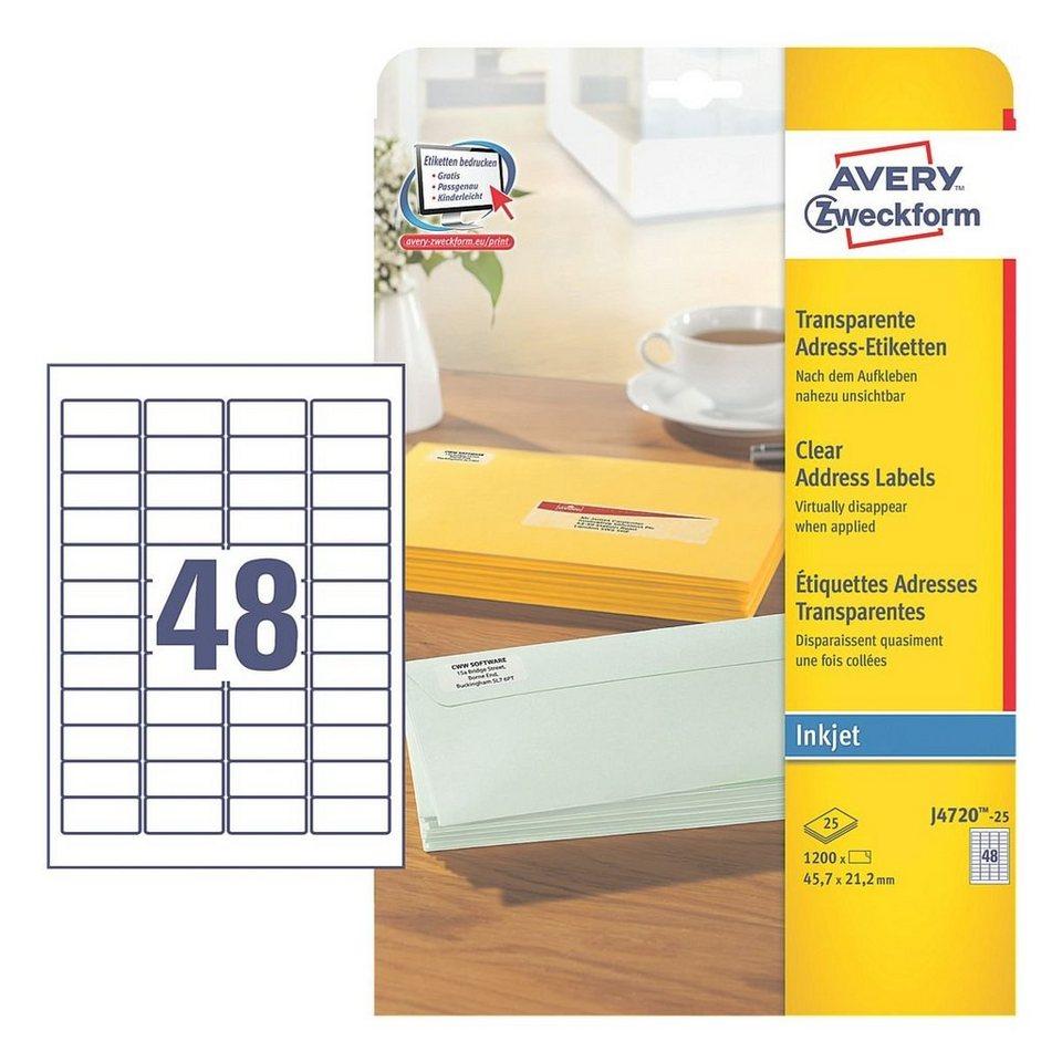Avery Zweckform 1200er-Pack Folien-Etiketten »J4720-25«