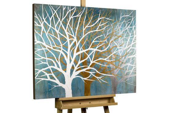 KUNSTLOFT Gemälde »Where the Treetops glisten«, handgemaltes Bild auf Leinwand