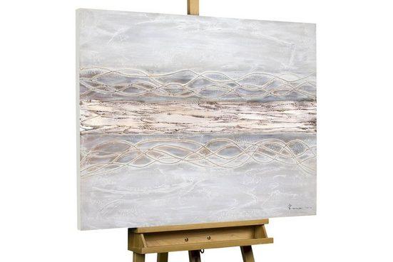 KUNSTLOFT Gemälde »Bebende Erde«, handgemaltes Bild auf Leinwand