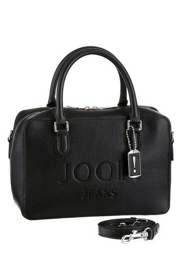 Joop Jeans Henkeltasche »lettera yva handbag shz«, mit Logo-Print und Schmuck-Anhänger