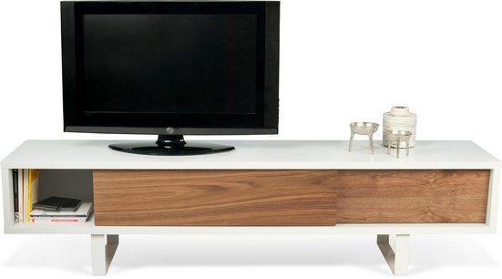 TemaHome Lowboard »Slide«, mit schöner Holzstruktur, praktischen Schiebetüren und robusten Metallgestell