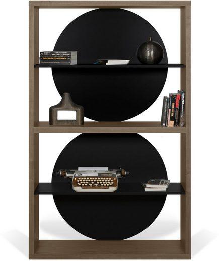TemaHome Regal »Zero«, mit besonderen kreisförmigen Holzplatten als Rückwand, in 5 verschiedenen Farbvarianten erhältlich