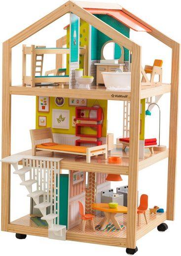 KidKraft® Puppenhaus »Stylish Mansion mit EZ Kraft Assembly™«, fahrbar; inklusive Möbel