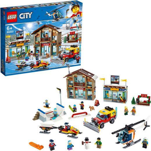 LEGO® Konstruktionsspielsteine »Ski Resort (60203)«, (806 St)