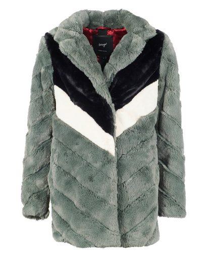 Maze Fake Fur Jacke mit Hemdkragen »Ladera«