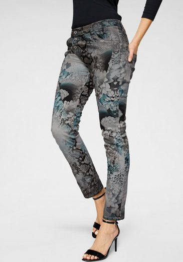 Please Jeans Röhrenhose »P78A« mit Phyton-Fantasy Allover-Print