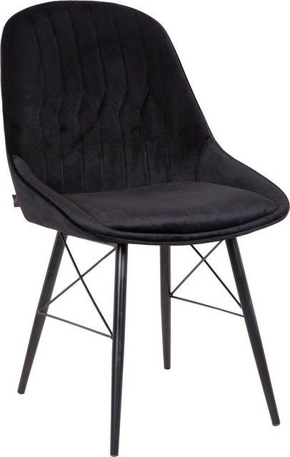 Stühle und Bänke - Leonique Esszimmerstuhl »Janique« 2er Set, mit schönen Ziernähten im Rücken und modern designten Metallbeinen  - Onlineshop OTTO