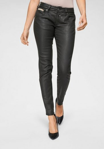 Herrlicher Slim-fit-Jeans »TOUCH SLIM« in Leder-Optik