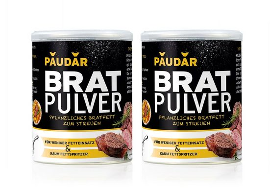 PAUDAR Bratpulver 2x125 g pflanzliches Bratfett zum Streuen