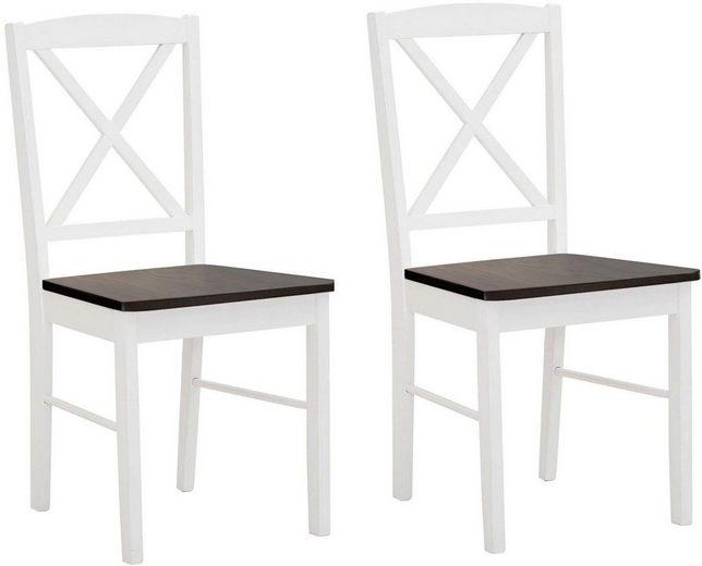 Home Affaire Stuhl »Sonoma« aus massivem Kiefernholzgestell, angenehmer Sitzkomfort, Sitzhöhe 47 cm (2er Set)