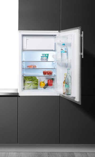 Amica Einbaukühlschrank EKS 361 190 E, 87,5 cm hoch, 56 cm breit, mit Edelstahltür