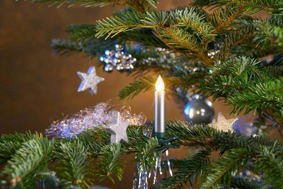LED-Christbaumkerzen, kabellos, 12 Kerzen