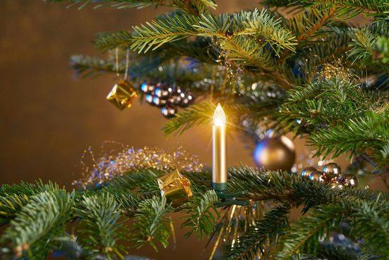 BONETTI LED-Christbaumkerzen, 25-flammig, kabellos, 25 Kerzen plus Zubehör