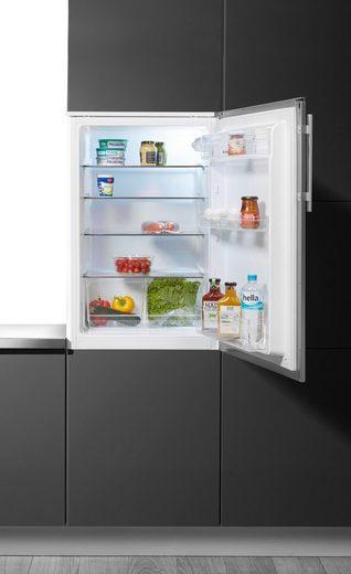 Amica Einbaukühlschrank EVKS 351 190 E, 87,5 cm hoch, 56 cm breit, mit Edelstahltür