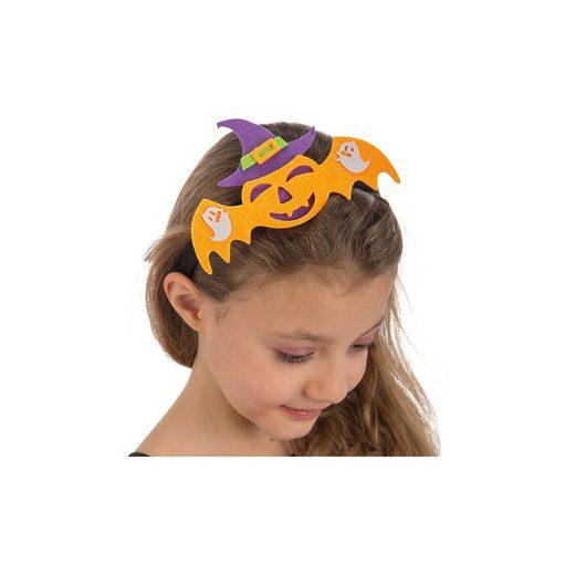 Haarreif Fledermaus orange