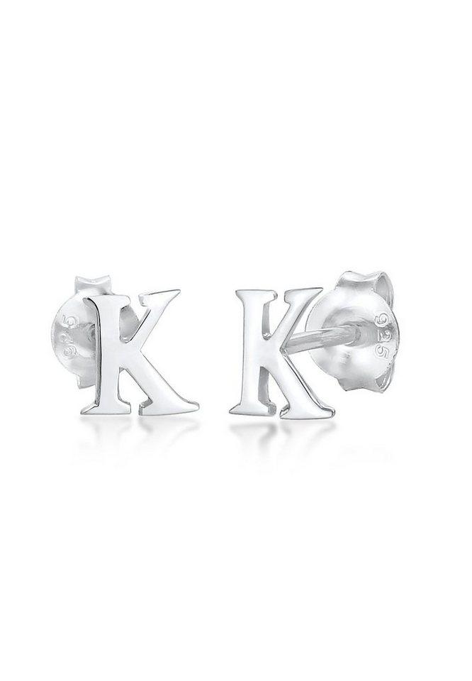 Elli Paar Ohrstecker »Stecker Buchstabe K Initialen Minimal 925 Silber« | Schmuck > Ohrschmuck & Ohrringe > Ohrstecker | Elli