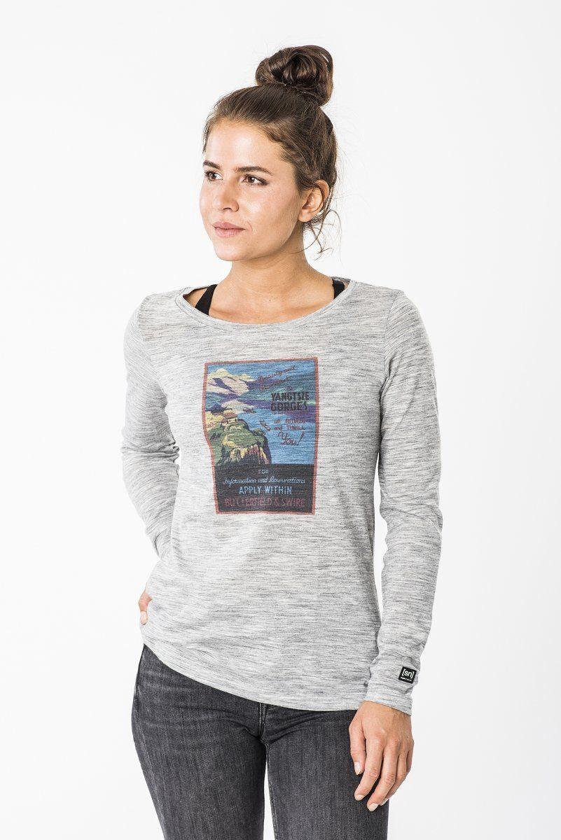 natural Longsleeve »w Super Ls« Digital Print iPXkOZu