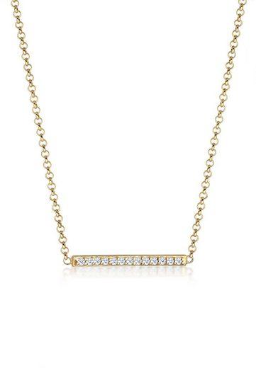 Diamore Collierkettchen »Klassisch Diamanten Reihe (0.065 ct) 375 Gelbgold«
