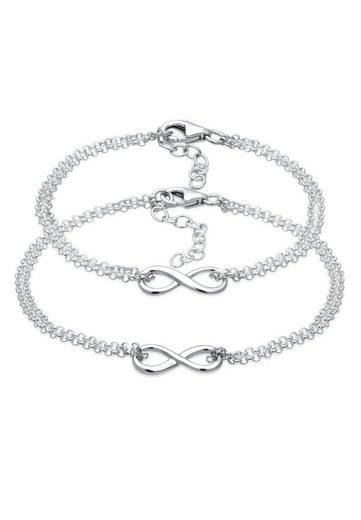 Elli Armband Set »Mutter Kind Set Infinity Endlos Symbol 925 Silber«