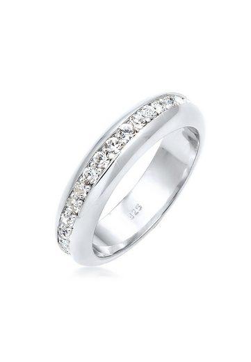 Elli Fingerring »Cocktail Bandring Swarovski® Kristalle 925 Silber«