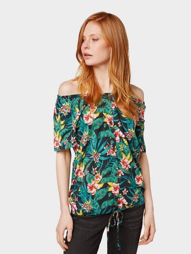 TOM TAILOR T-Shirt »Carmenshirt mit Blumenmuster«