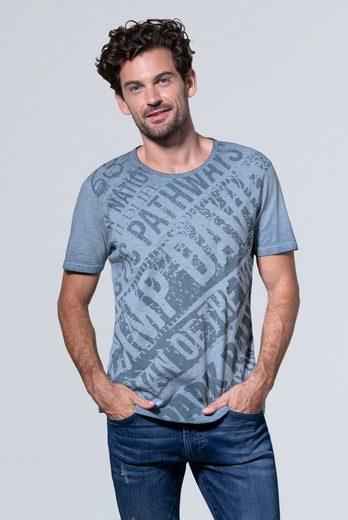 CAMP DAVID T-Shirt mit All Over-Print