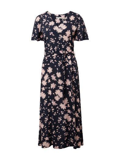 tom tailor sommerkleid »wickelkleid mit blumenmuster