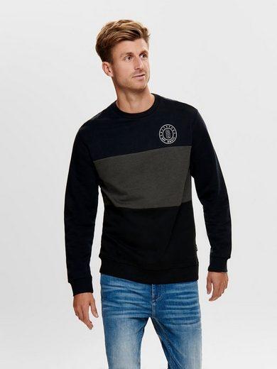 ONLY & SONS Kontrastfarbiges Sweatshirt