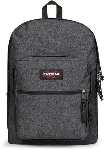 Eastpak Freizeitrucksack »PINNACLE L, Black Denim«, mit Laptopfach, enthält recyceltes Material (Global Recycled Standard)