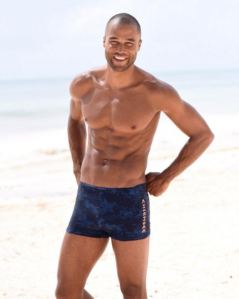 Chiemsee Boxer-Badehose, mit Print | Bekleidung > Bademode > Boxerbadehosen | Blau | Chiemsee