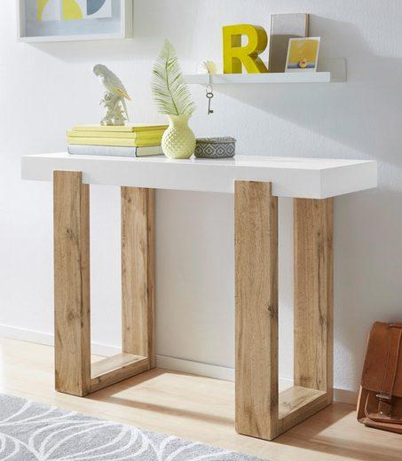 INOSIGN Konsolentisch »Solid«, mit schönem Beingestell und einer weißen Tischplatte, Breite 110 cm
