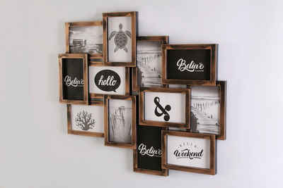 Home affaire Galerierahmen, für 12 Bilder, Fotorahmen, Bildformat 10x15 cm