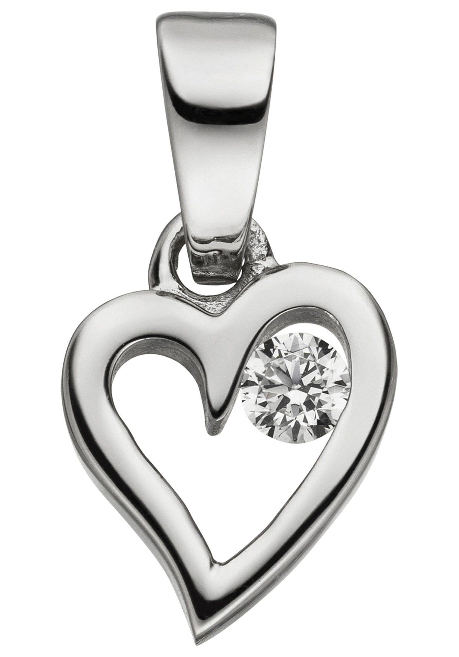 Herzanhänger Mit Kaufen 925 »kleines Silber Jobo Herz« Zirkonia Online 9IeYEHWD2b
