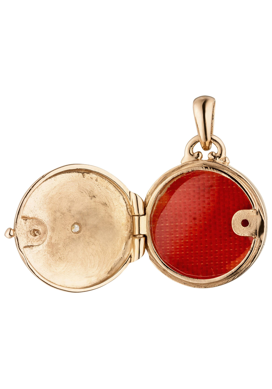»kleines Medaillon« Kaufen 925 Medallionanhänger Online Roségold Mit Silber Vergoldet Zirkonia Jobo H9D2IE