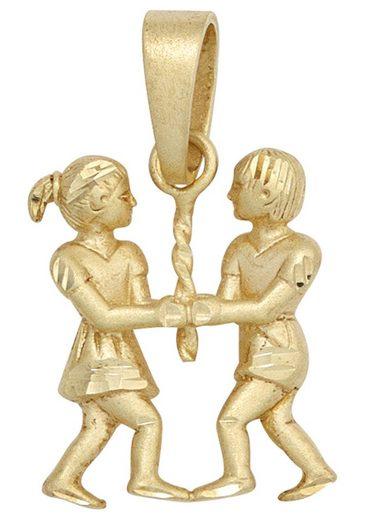 JOBO Sternzeichenanhänger »Sternzeichen Zwilling«, 925 Silber vergoldet