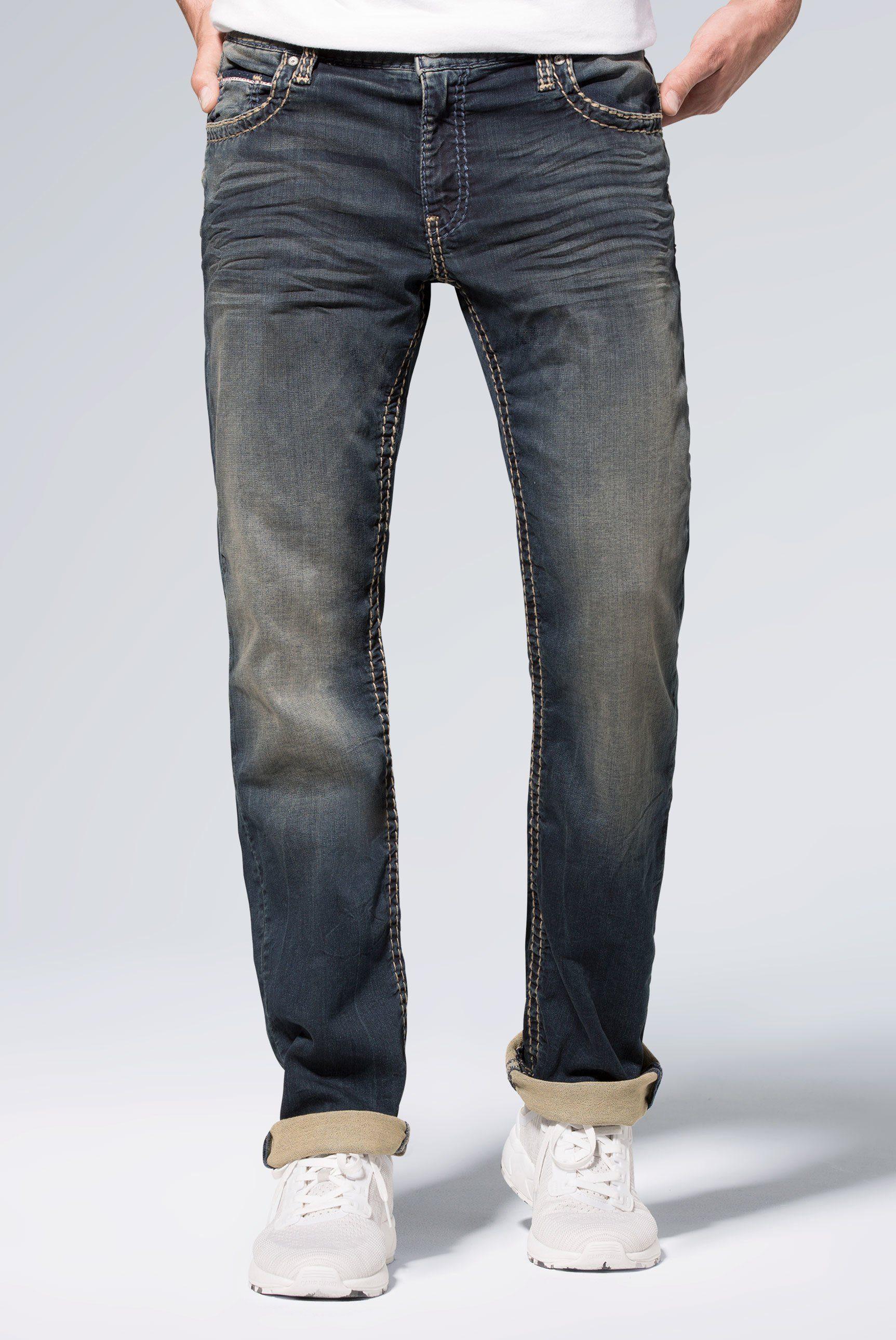 CAMP DAVID Comfort fit Jeans »CO:NO« Münztasche mit Ziernaht online kaufen | OTTO