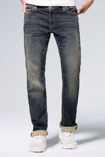 CAMP DAVID 5-Pocket-Jeans »CO:NO« Münztasche mit Ziernaht