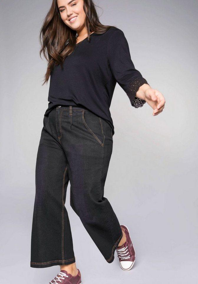 Sheego Stretch-Jeans in bequemer, weiter Beinform