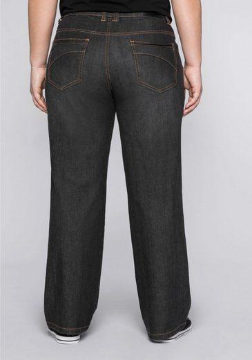 Sheego Stretch-Jeans mit extra weitem Bein