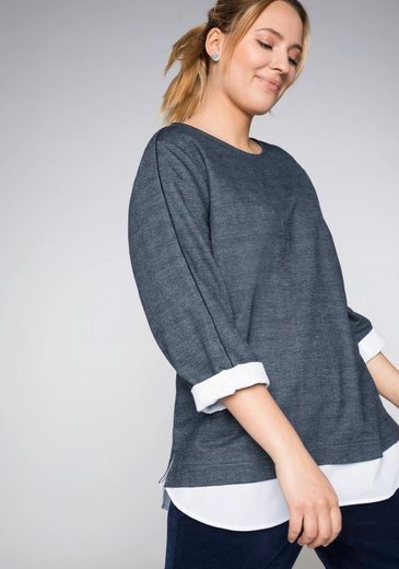 Sheego Sweatshirt in 2-in-1-Optik