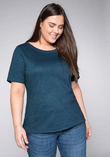 Sheego T-Shirt mit verlängerten Ärmeln