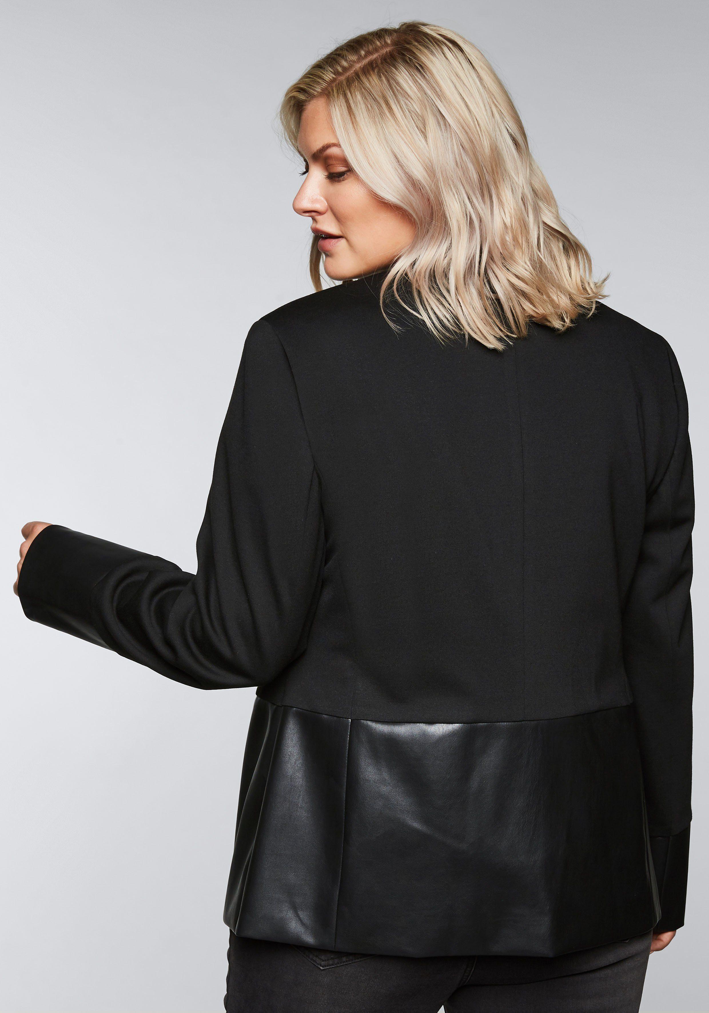 Materialmix Sheego Kaufen Im Kurzblazer Online thQdsrC